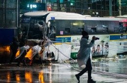 Seoul Protests 11/14 bus