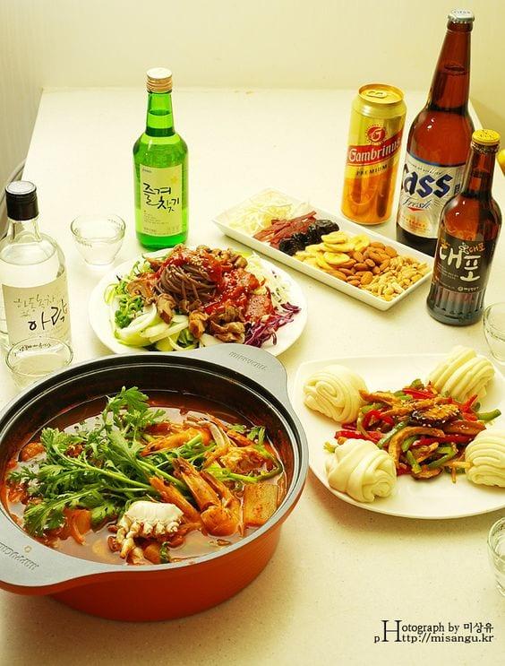 what to eat with soju