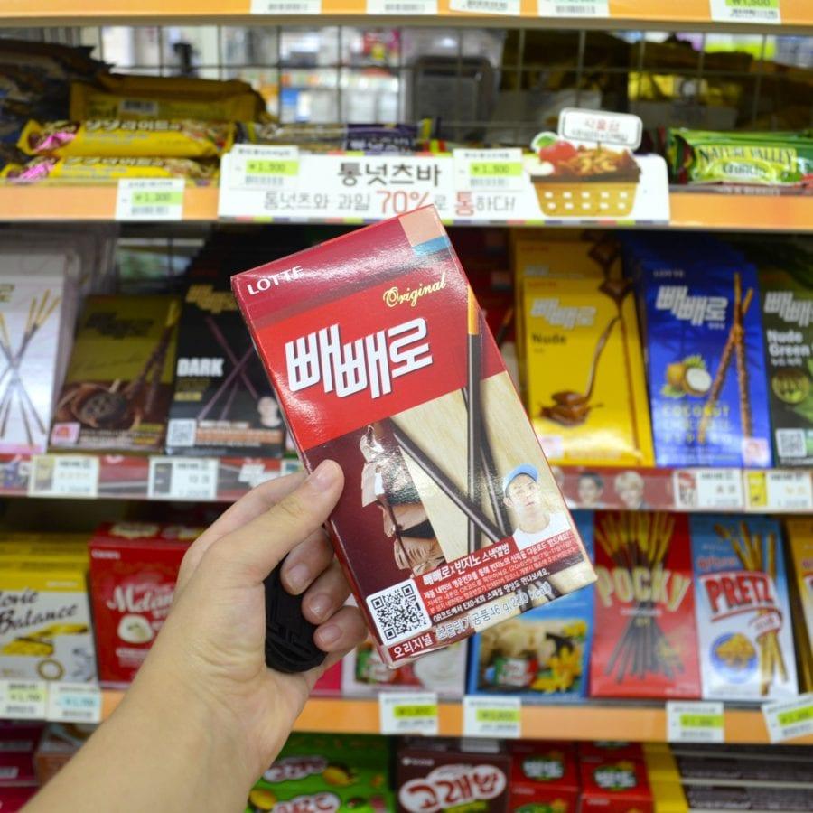 korean convenience stores pepero