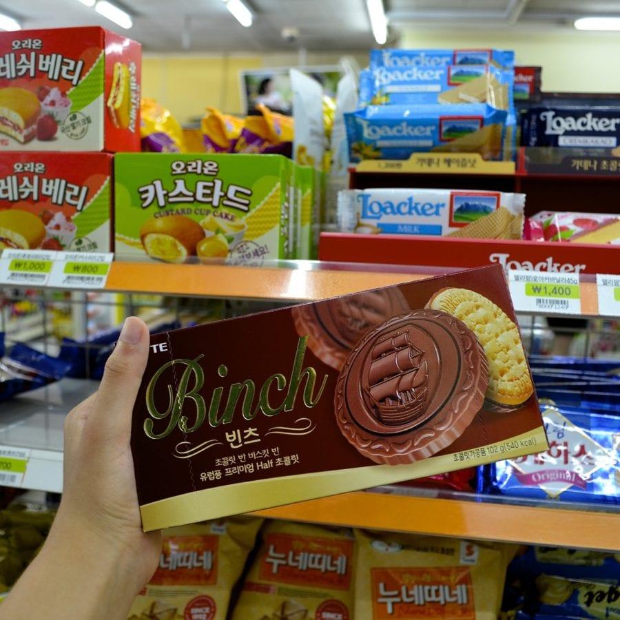 korean convenience stores binch cookies