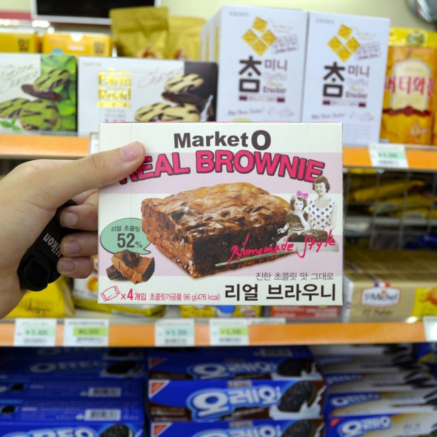 korean convenience stores real brownie