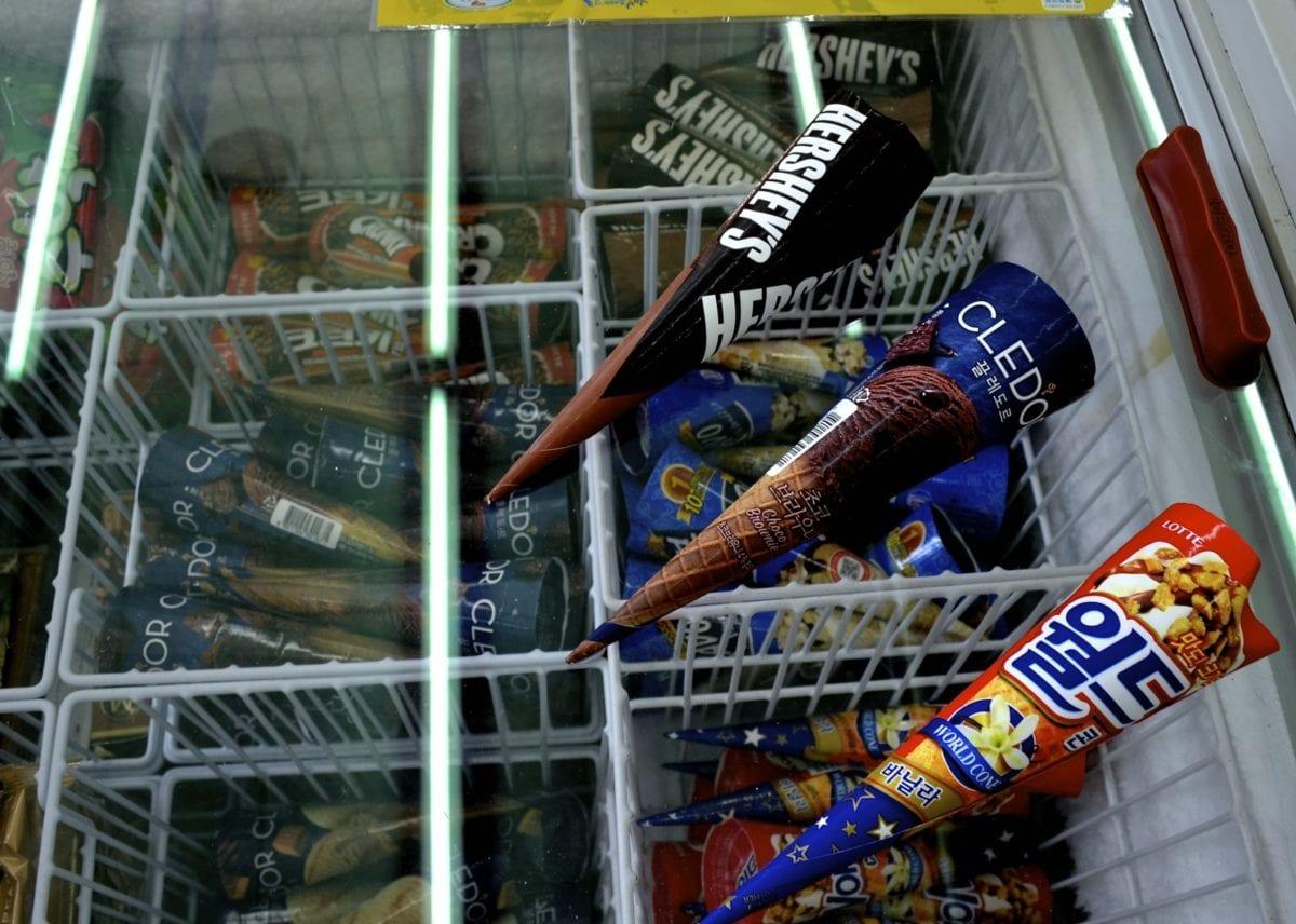 korean convenience stores chocolate ice cream