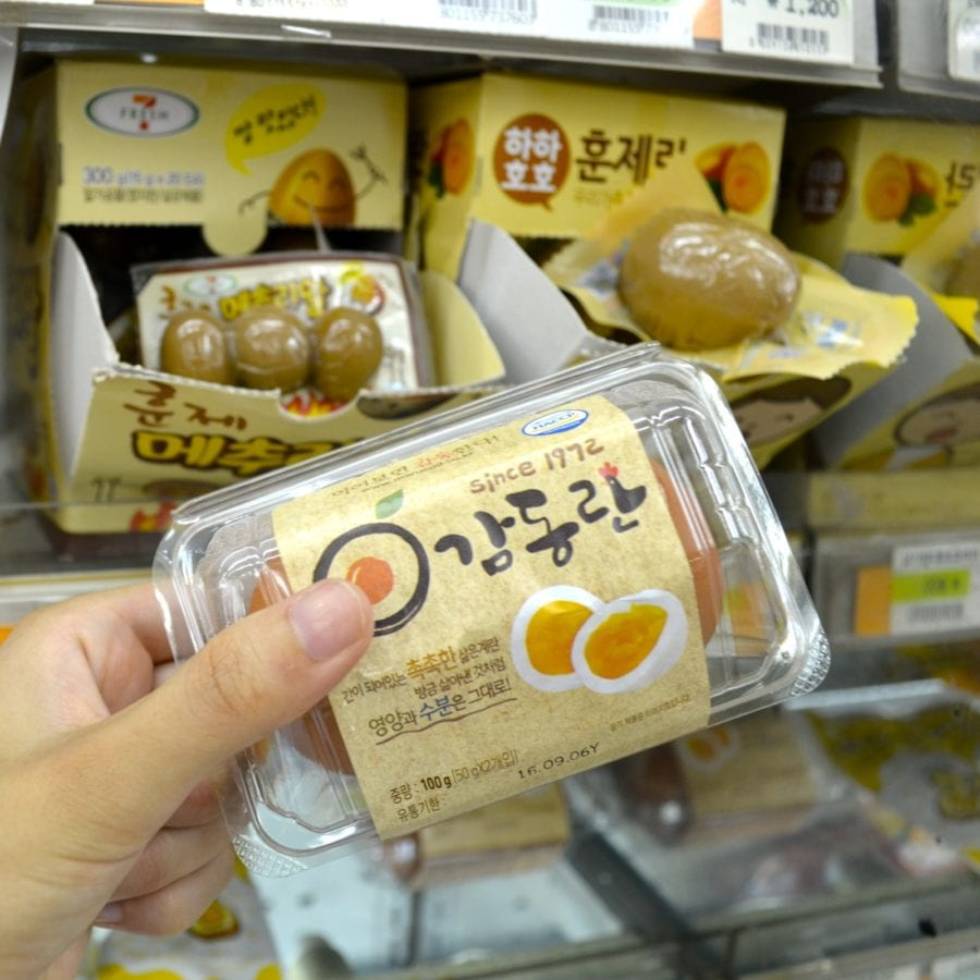 Korean Convenience Stores baked eggs