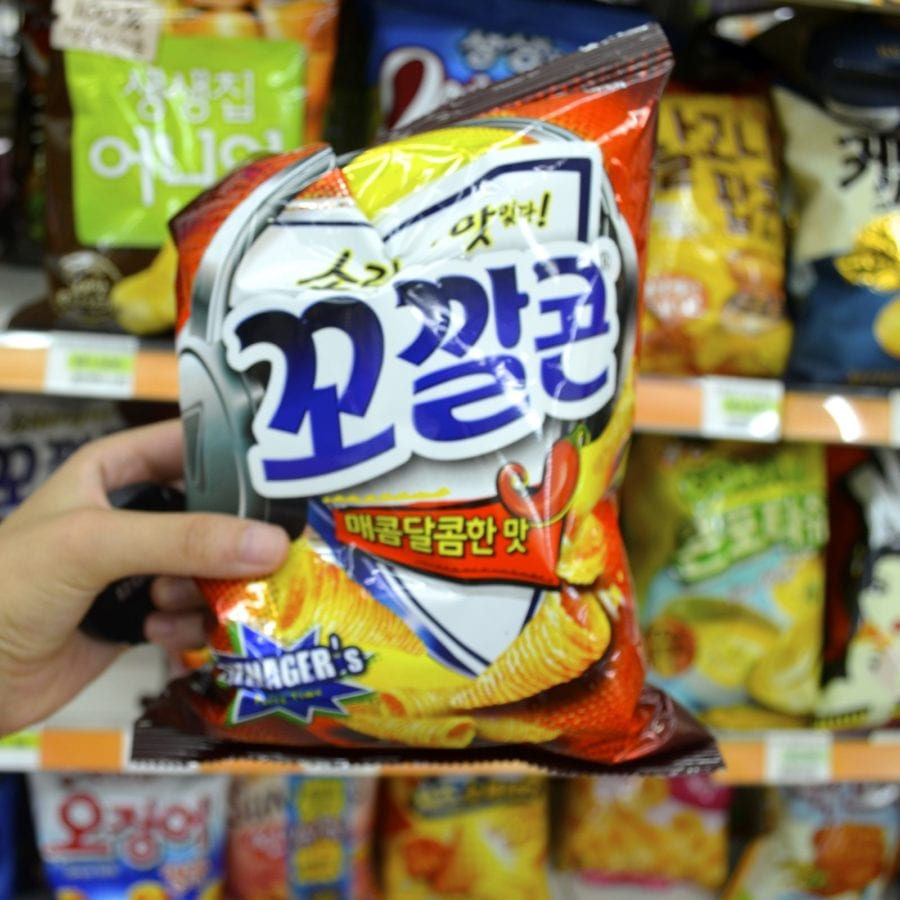 korean convenience stores corn chips