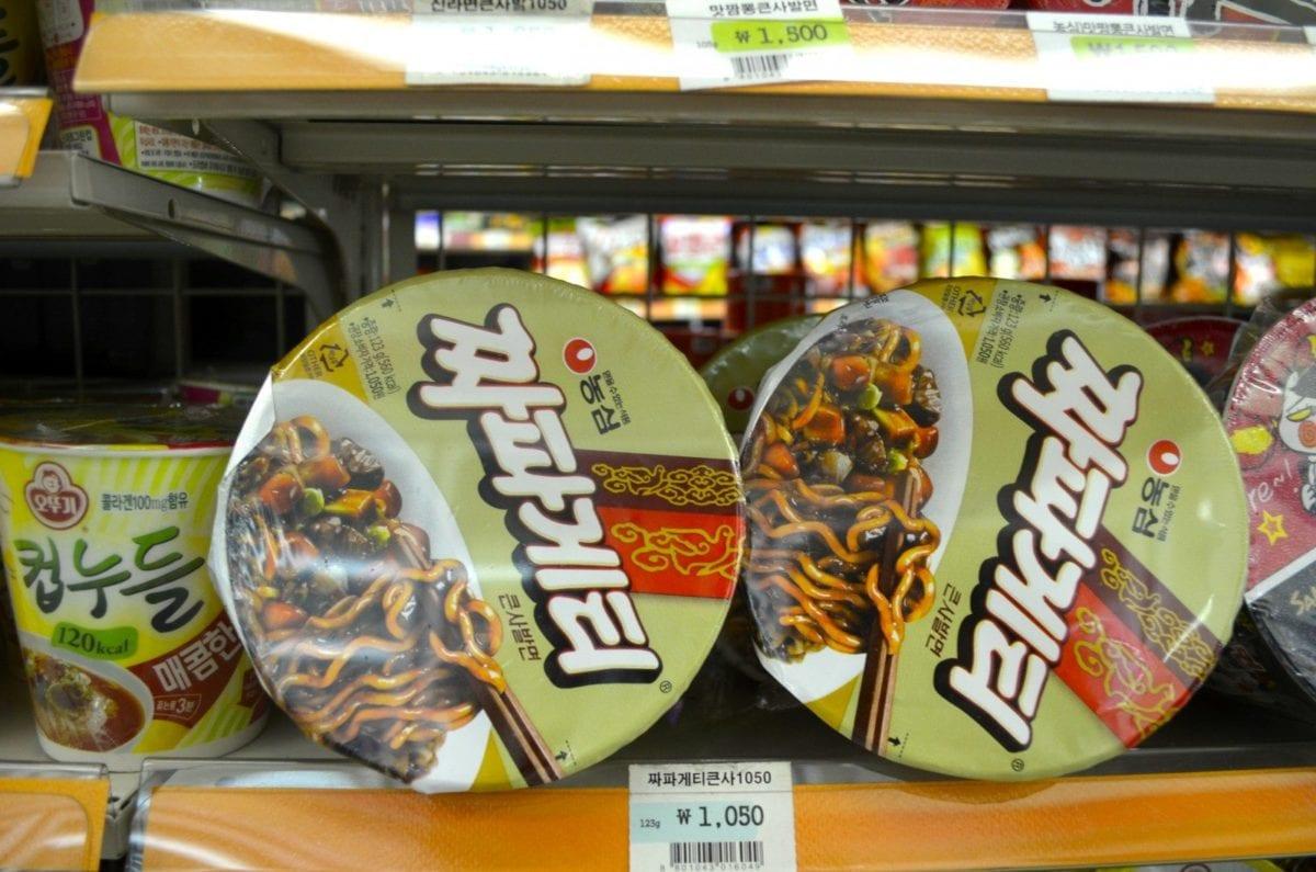korean convenience stores jjajangmyeon