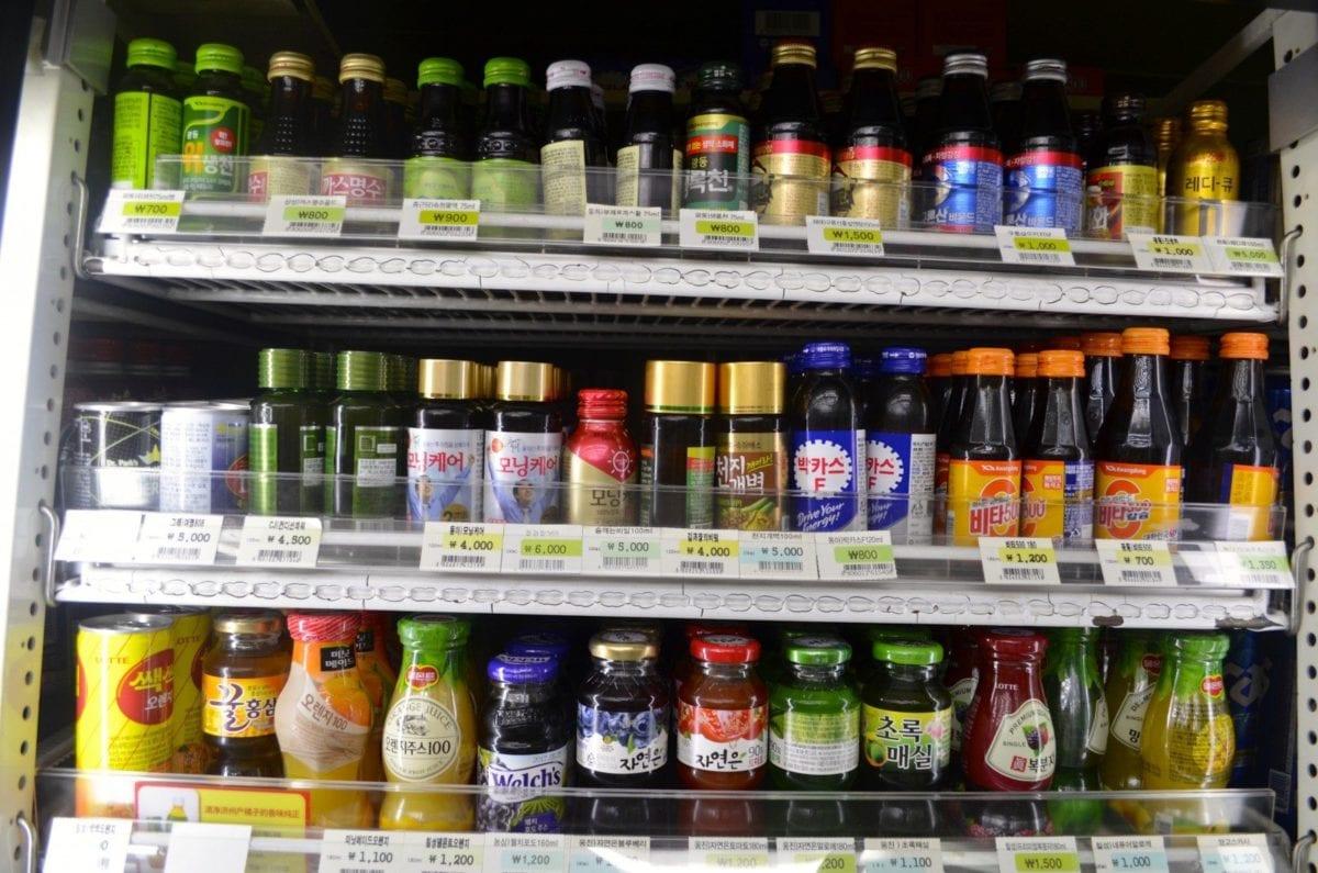 korean convenience stores vitamin drinks