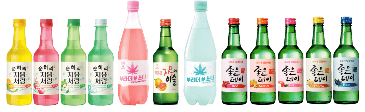 new flavors of soju