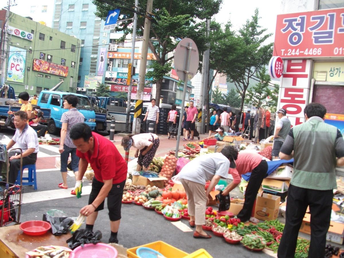 Korea grocery traditional market