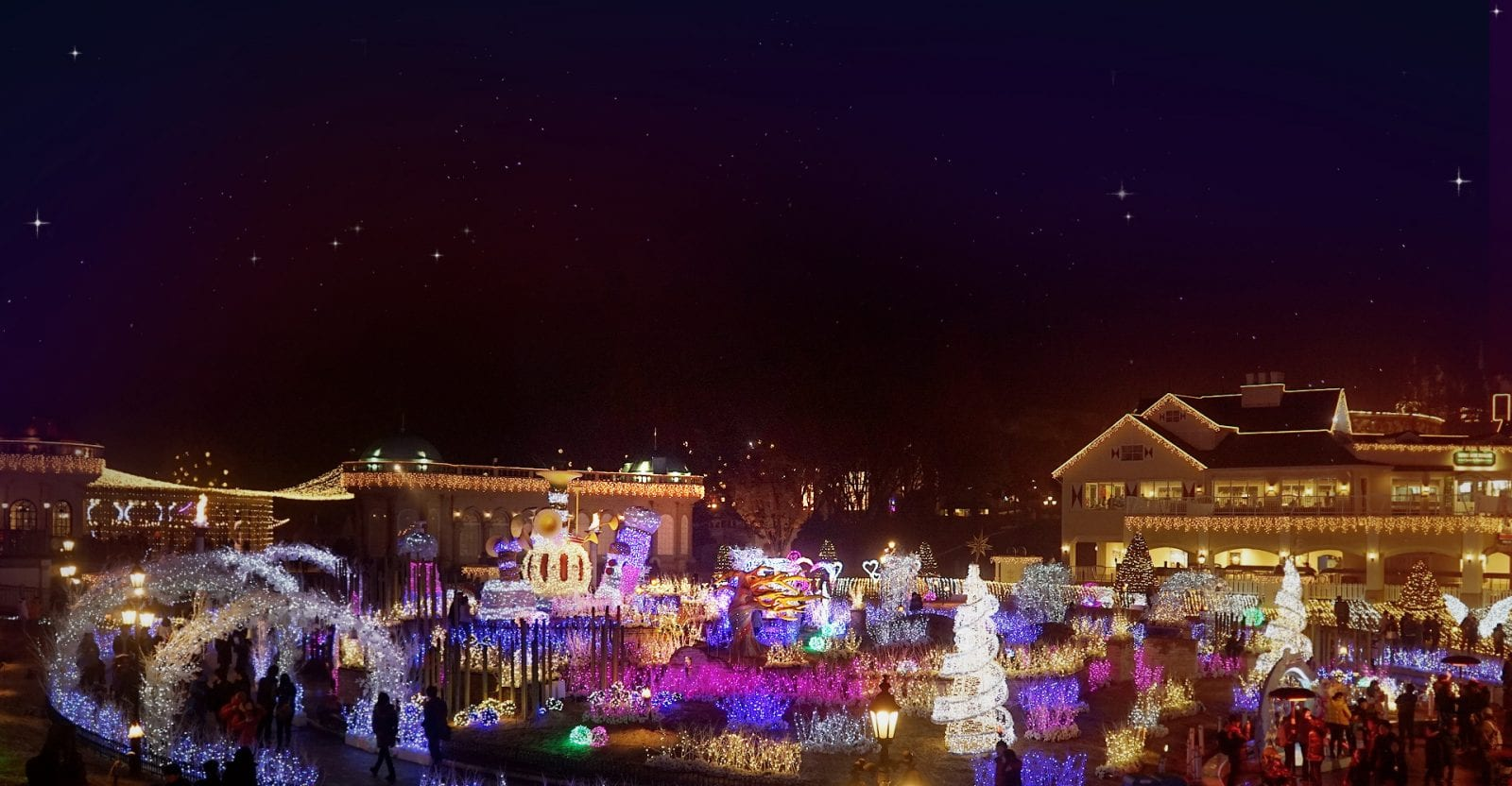 winter in South Korea Activities Things to Do Romantic Illumination Everland Resort