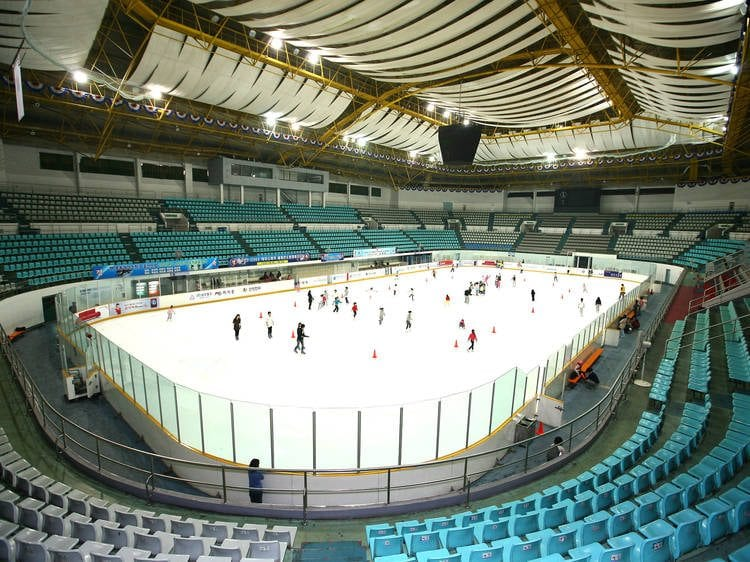 winter activities in korea mokdong ice rink