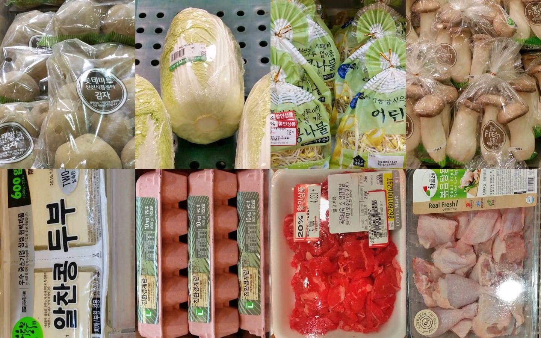 Korean grocery tips 1 week