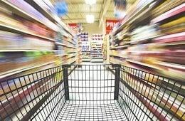 groceries in korea cart