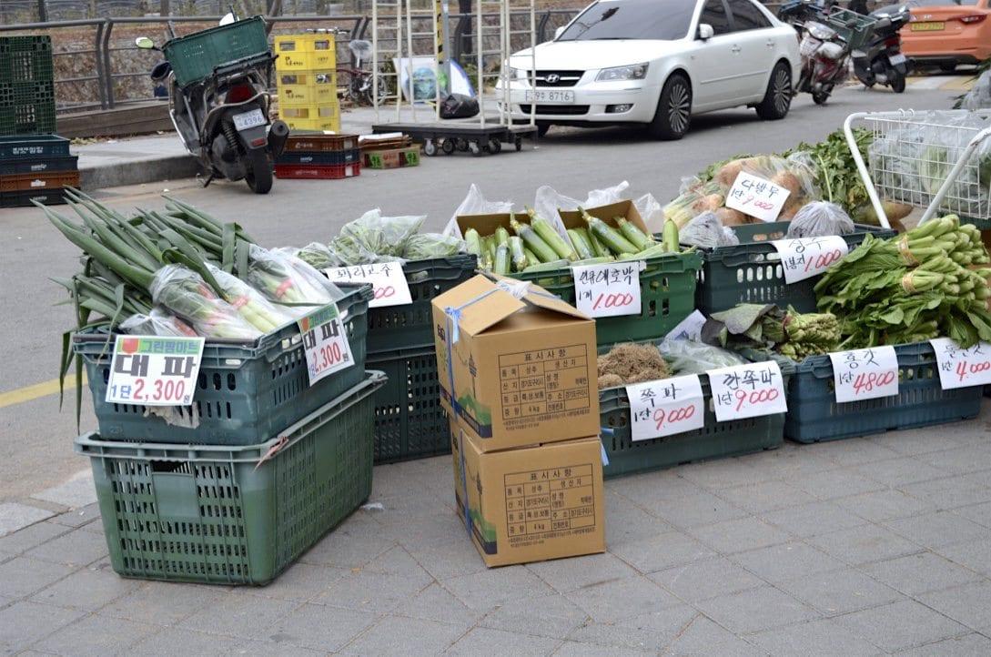 groceries in korea outdoor market