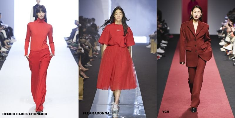 hottest fashion trends from seoul fashion week red