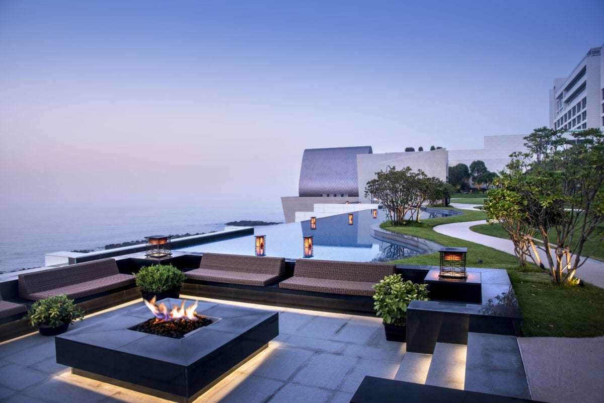 Busan's Hottest New Resort terrace