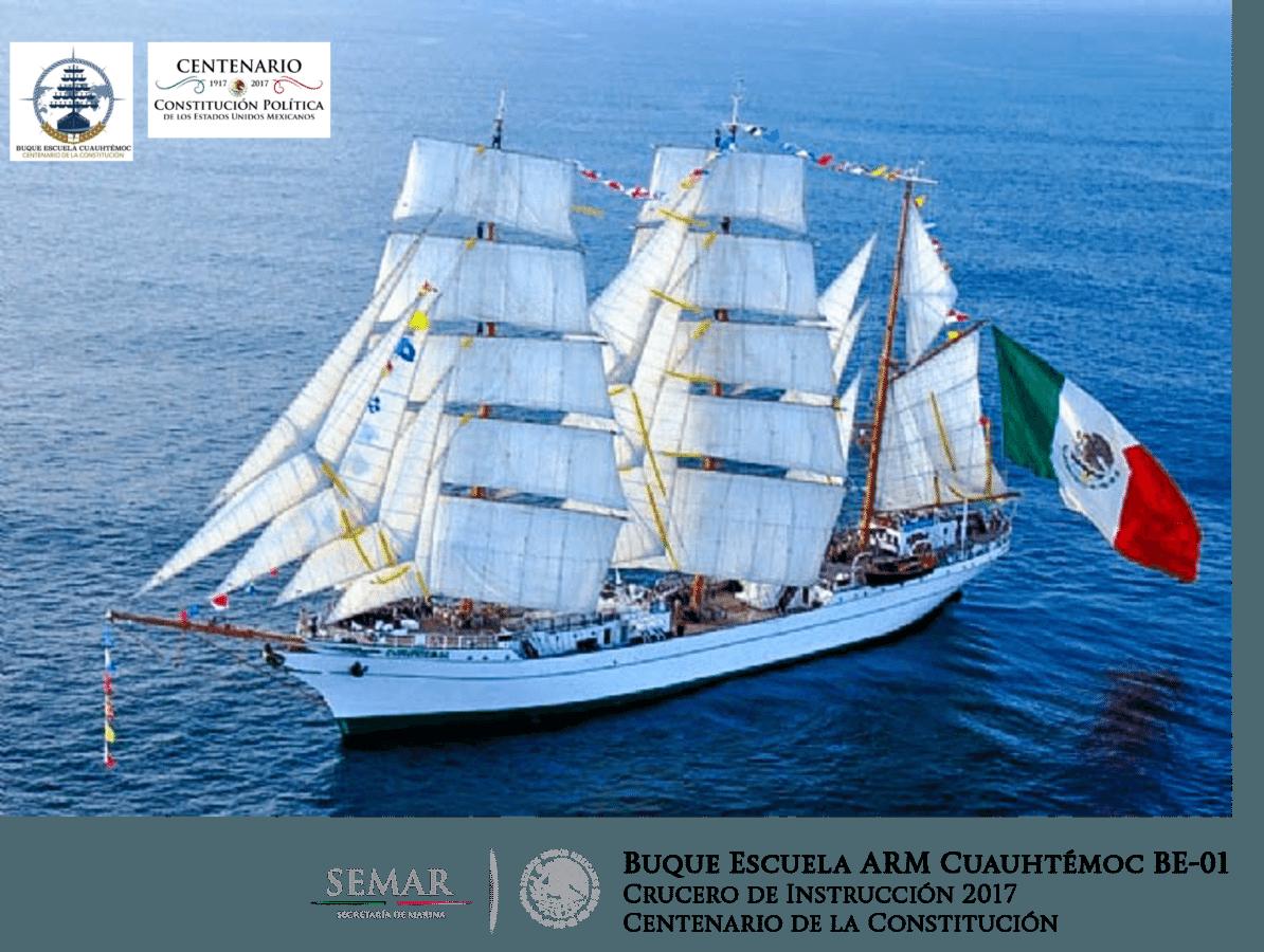 Mexican ship Cuautémoc South Korea