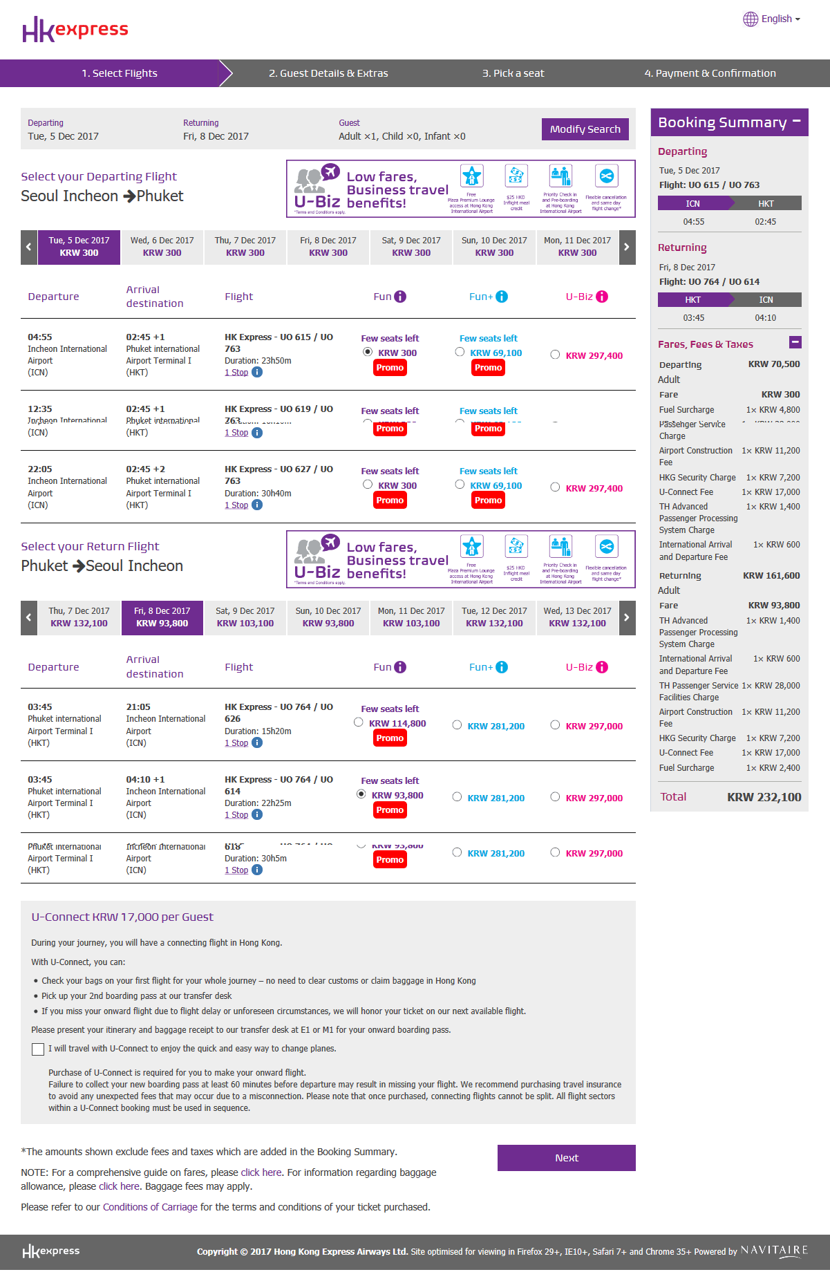 Seoul, Korea, Thailand, Phuket, flight, Hong Kong, HK Express