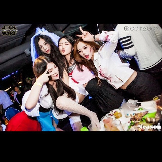 Club Octagon Halloween Party Hot Girls