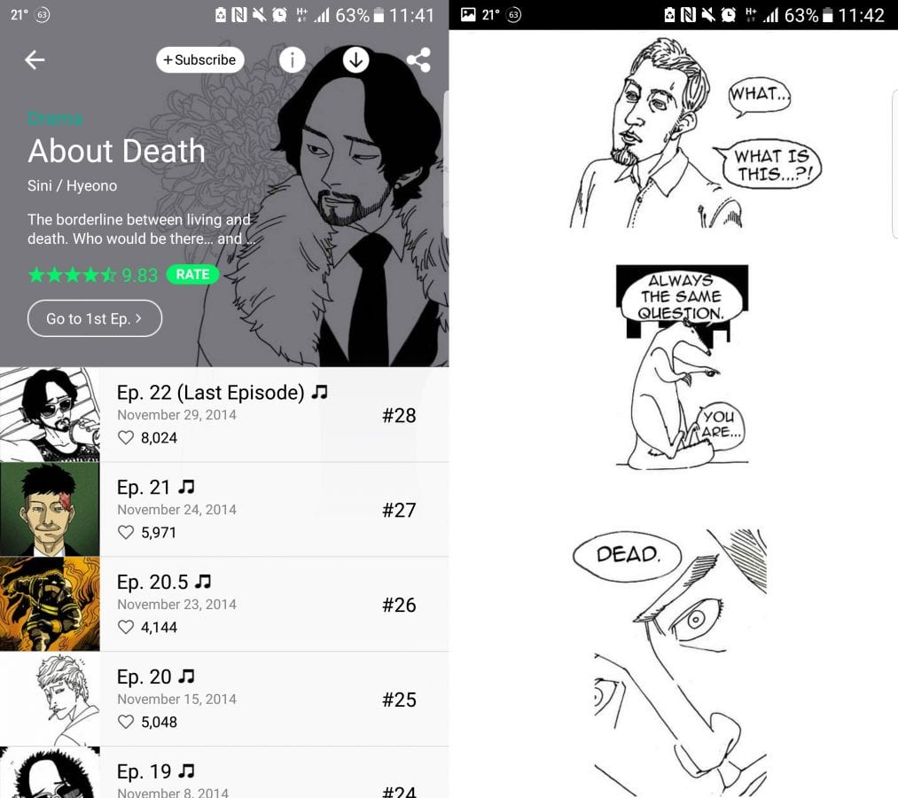 About Death Korean Webtoon