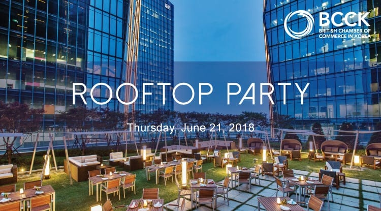 BCCK Rooftop Party Networking Events Seoul June 2018