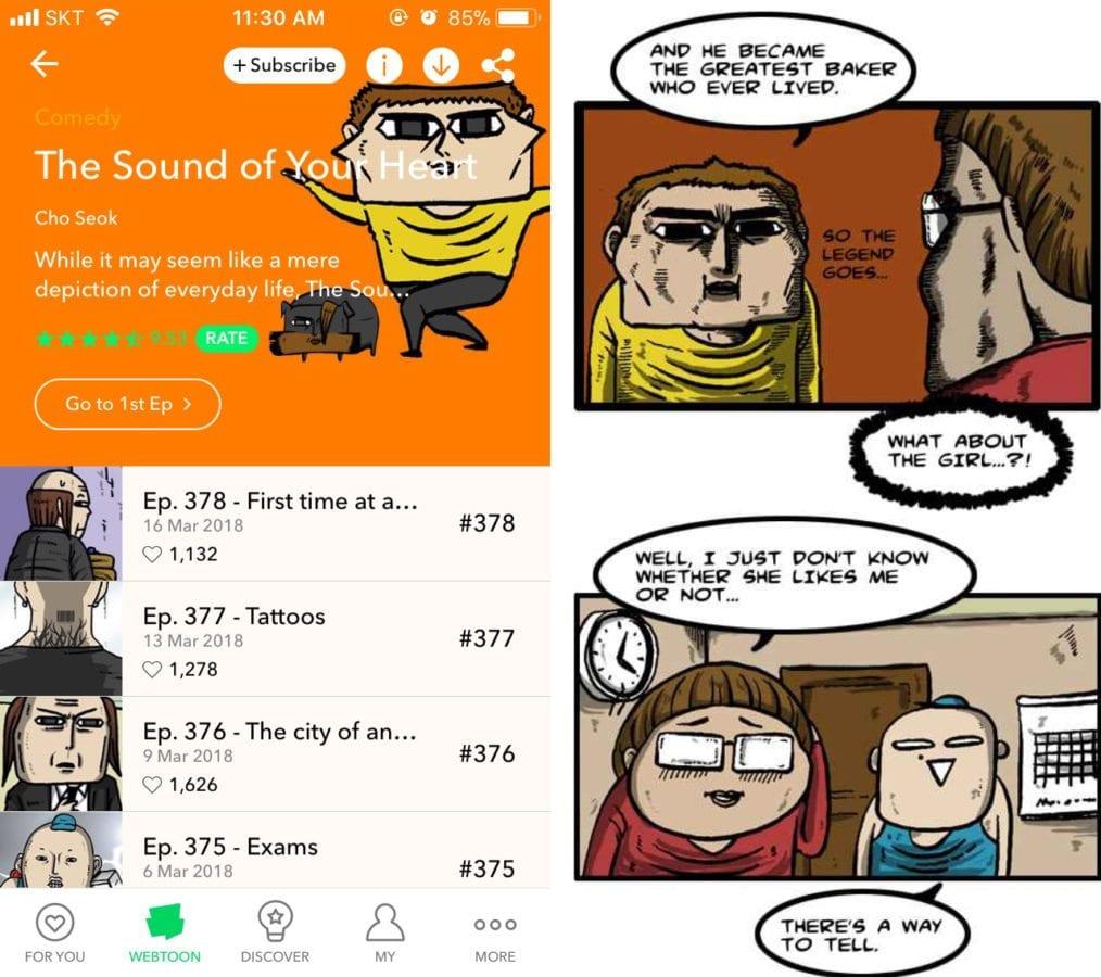 Sound of Your Heart Korean Webtoon